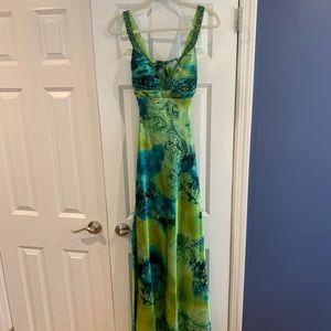 Mermaid blue/green prom dress